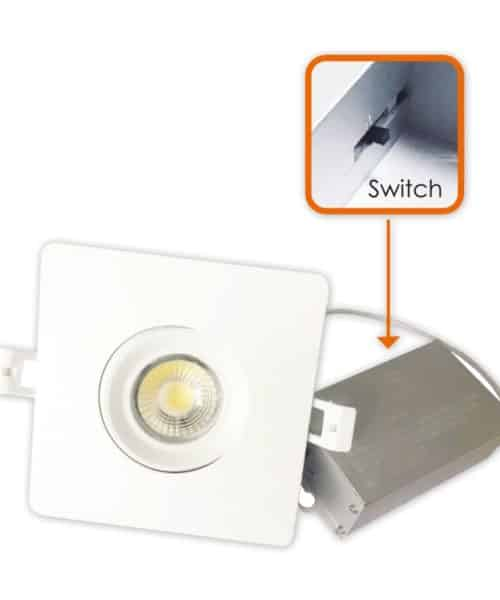 3Way CCT Adjustable  4″ Square Eyeball