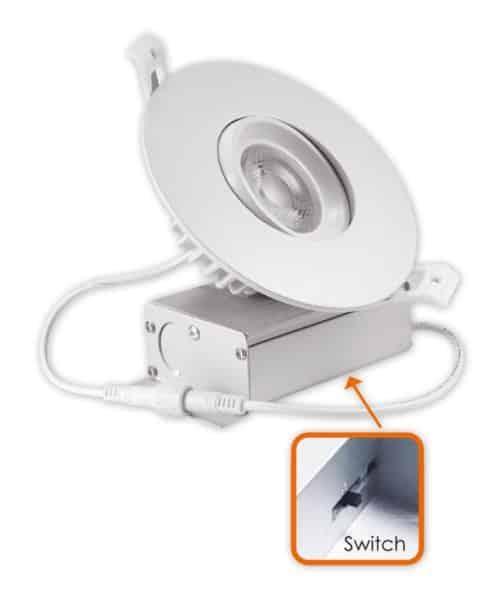 3Way CCT Adjustable  4″ Round Eyeball